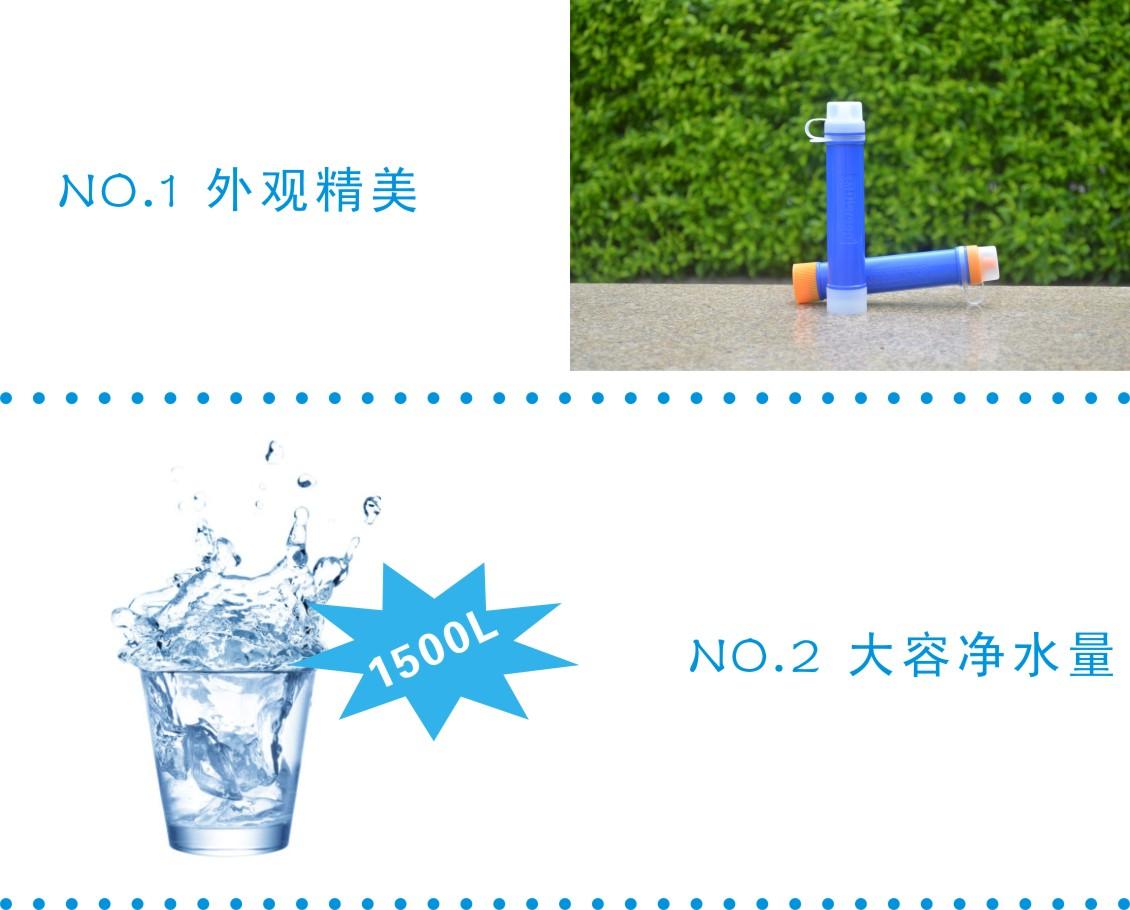 微型净水吸管特点