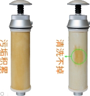 康米尔KP01单兵滤水器滤芯脏示意图