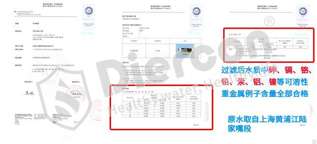 康米尔KP01单兵滤水器德国TUV重金属离子含量测试报告