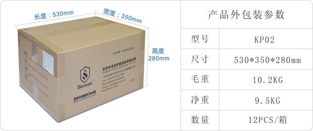 康米尔KP02救援净水器外包装箱