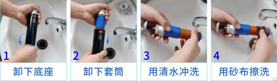 康米尔Diercon应急滤水器滤芯清洗展示
