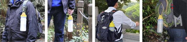 康米尔PB02军用滤水瓶携带方式