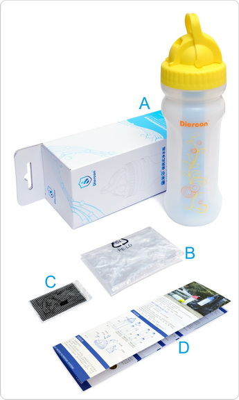 康米尔PB01救援净水壶彩盒包装明细
