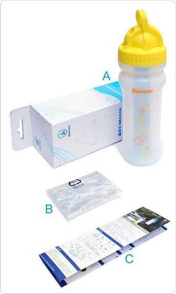 康米尔Diercon学生滤水壶彩盒包装明细